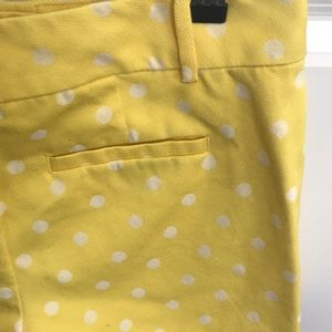 Ann Taylor Shorts - Yellow polka dot shorts
